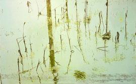 "Dying, 30"" x 48"" / 残荷,66cm x 122cm, 2012"