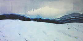 "Northumberland, 18""x32""/ 诺山伯岚德, 46cm x 81cm, 2012"