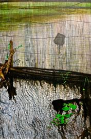 """Shadow 24"""" x 36"""" / 竹影潺潺, 61 x 92cm, 2012"""