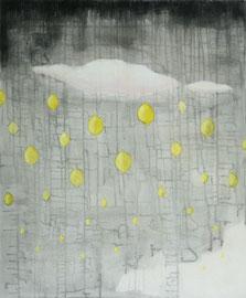 "Lemon Rain, 20""x24"" / 拧檬雨, 51cmx61cm  2009"