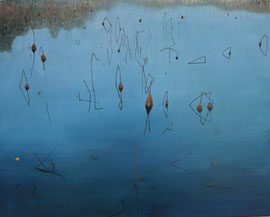 "Dusk on the West Lake, 24"" x 30"" / 西湖黄昏 61 x 76cm, 2012"
