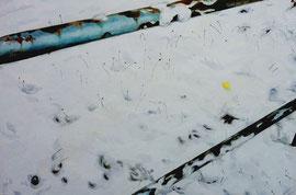 """Snow, 24""""x36"""" / 雪,61cm x91.5cm, 2012"""