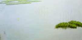 "The middle of Water, 20"" x 40""/ 在水一方, 51cm x 102cm, 2012"