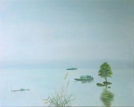 "Small Boats,  24""x30"" / 小船 61x76cm, 2014"