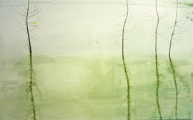 "Listening Water, 30""x48"" / 听水, 66cm x 122cm, 2012"