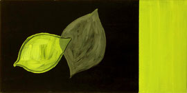 "Lemon Shadow II, 12""x24""/ 柠檬和影子II, 30.5cm x 61cm,2012"