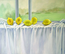 "Window Lemon, 20""x24"" / 窗前拧檬, 51x61cm,  2009"
