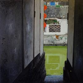 """ZhuJiajiao 36"""" x 36"""" / 朱家角, 92 x 92cm, 2011"""