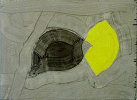 """Lemon & Shadow, 9.5""""x13""""/ 柠檬和影子, 24cm x33cm, 2012"""
