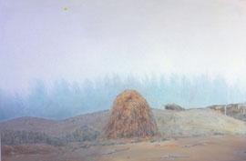"Haystack, 24"" x 36"" / 干草堆,61cm x 91.5cm, 2012"