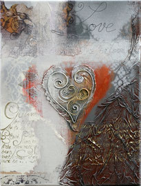 """""""Coeur"""" - 40 x 50 cms - 380€"""