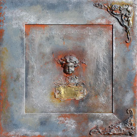 """Angel's head"" - 45 x 45 - cadre compris - 350€"