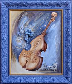 """""""Ange bleu"""" - Format sans le cadre 46 x 55cms - 710€"""
