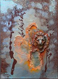 """""""Drop lion"""" - 26,5 x 35 cm - 230€ actuellement encadré"""