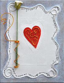 """Un coeur"" - 27 x 35 cm -  210€"