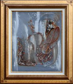 """""""Ange gris"""" -  Format sans le cadre 46 x 55 - 710€"""