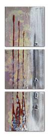 """""""Regardez-vous"""" (30x30) x 3  - tryptique  - 880€"""