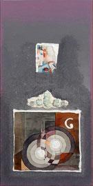 """""""La ville la nuit"""" - 25 x 50 cm sur chassîs XL - 240€"""
