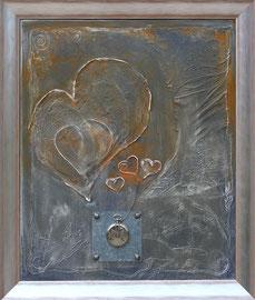 """46 x 55 -"""" le temps du coeur"""""""