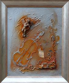"""""""Ange baroque 1"""" - Format sans le cadre 33 x 40 - 380€"""