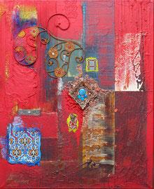 """""""Le sang d'Eléonore"""" - 65 x 81  - 1150€"""
