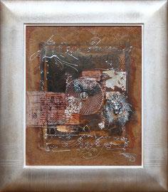 """""""Lion"""" 54 x 65 cm - 850€ sans cadre"""