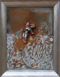 """""""Ange baroque 2"""" - Format sans le cadre 33 x 40 - 380€"""