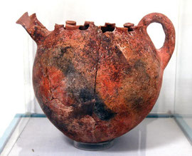 Double spouted milk bowl, Larnaca Archaeological Museum