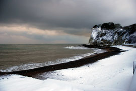 Sweep of snow around the Bay