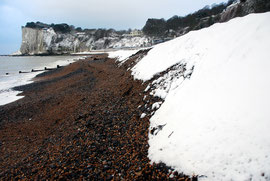 The shingle banked higher than I've ever seen it by the SE and NE gales