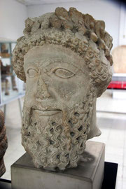 Limestone head, Larnaca Archaeological |Museum
