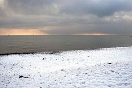Snow shingle sea shower