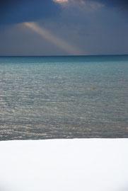 Bands of colour: Snow, sea, sky