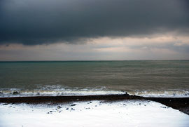 Heavy skies of the Dover Strait