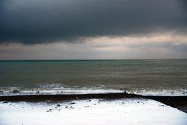 Heavy skies of the Dover Strait