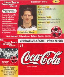 DFB, 1997, CocaCola 'Ziege', Kleinkarte