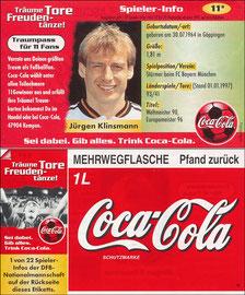 DFB, 1997, CocaCola 'Klinsmann', Kleinkarte