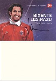 Lizarazu, 2018, Bundesliga-Legenden, Singapur-Karte, Dank an SF Martin