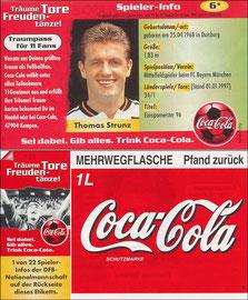DFB, 1997, CocaCola 'Strunz', Kleinkarte