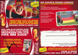 DFB, 2006, CocaCola, Klappkarte 'Schweinsteiger', signiert Schweinsteiger