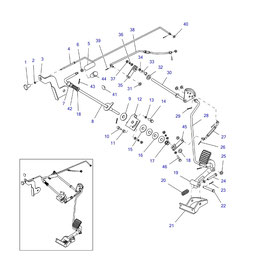 Control manual para acelerador y sus componentes