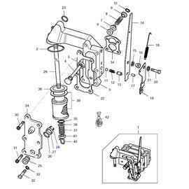 Filtro para bomba hidráulica y sus componentes.