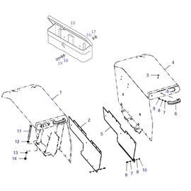 Las salpicaderas y sus componentes.