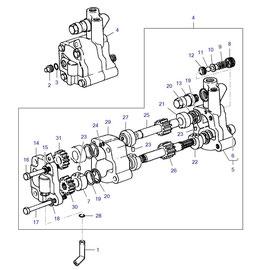 Bomba hidráulica auxiliar y sus componentes.
