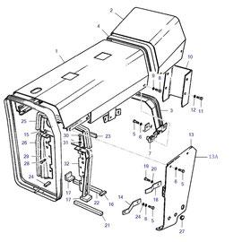 El cofre para motor y sus componentes.