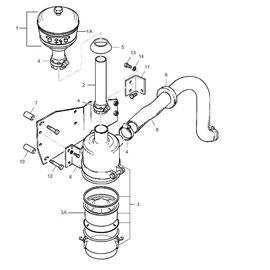 Filtro para aire húmedo y sus componentes.