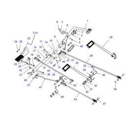 Vástago para pedales FWD y sus componentes.