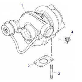 Turbocargador y sus componentes.