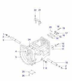 Housing para transmisión y sus componentes.