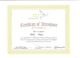 Diplôme EFT niveau 3